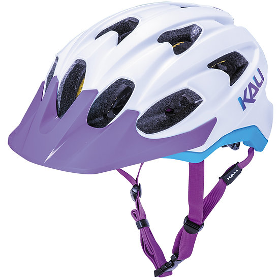 Kali Helmet - Pace (Solid Matt White Blue & Purple)
