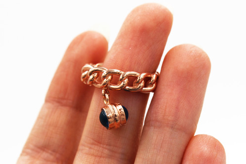 Rose Gold Plated Silver Evil Eye Ring