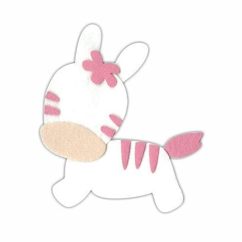 Zebrinha (Branco/Rosa)