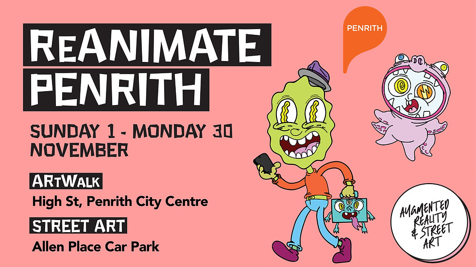 ReAnimate Penrith Event Augmented Reality