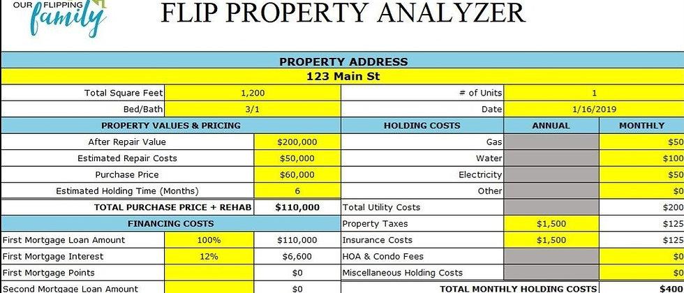 Flip Property Analyzer