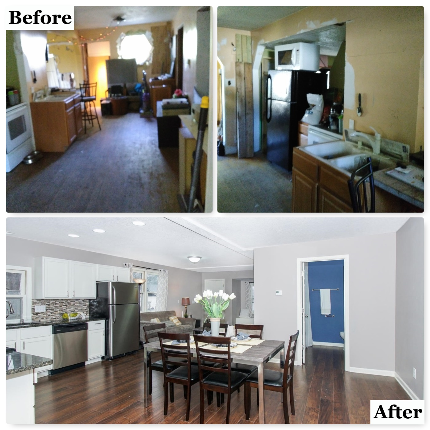 Open concept--was previously 3 rooms