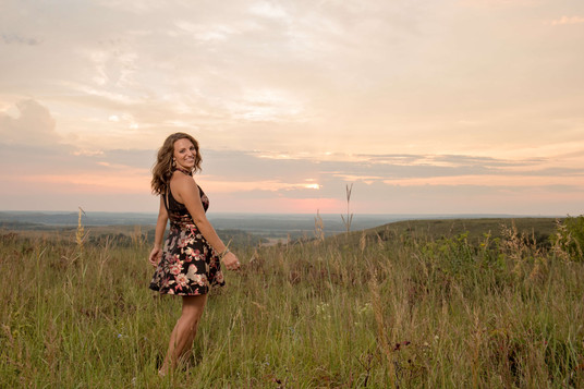 sunset senior session