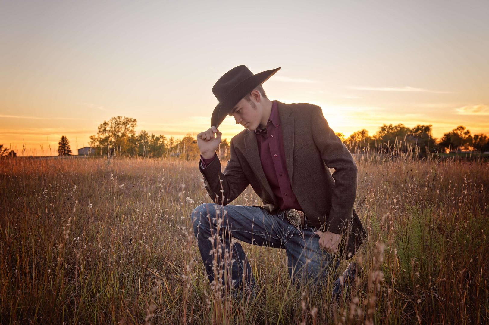 cowboy senior session