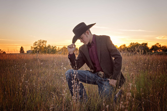 cowboy senior session