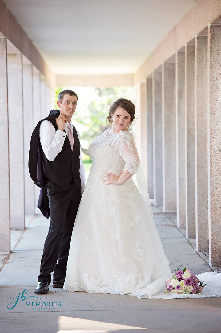 Kansas City bride and groom