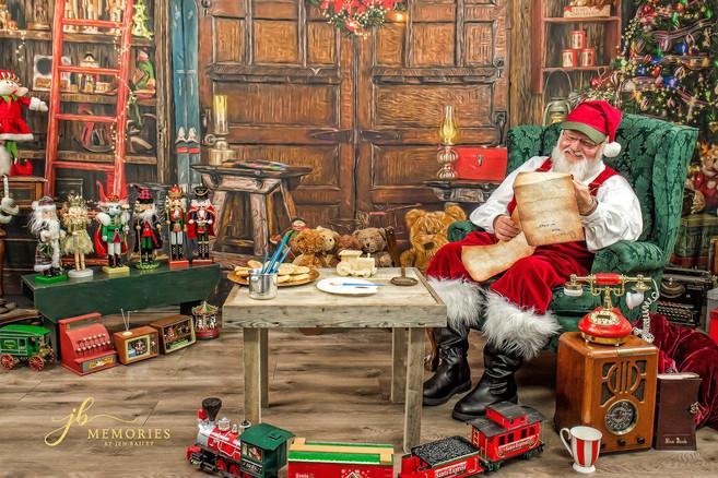 santa checking list-memories by jen bail