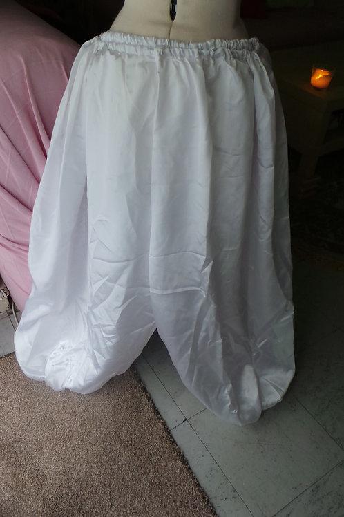 Saourel Large Gonflant Blanc en Satin