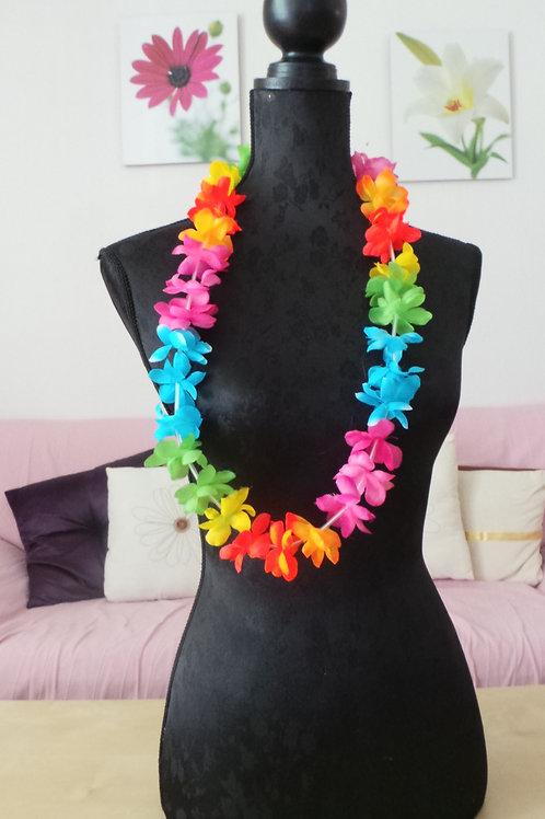 Pack de coliers de fleures multicolores