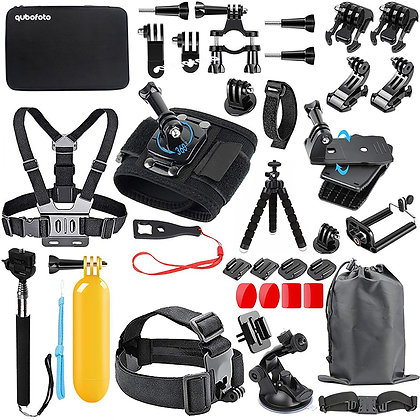 Accessories for Action Camera GoPro, Kit 48-In-1