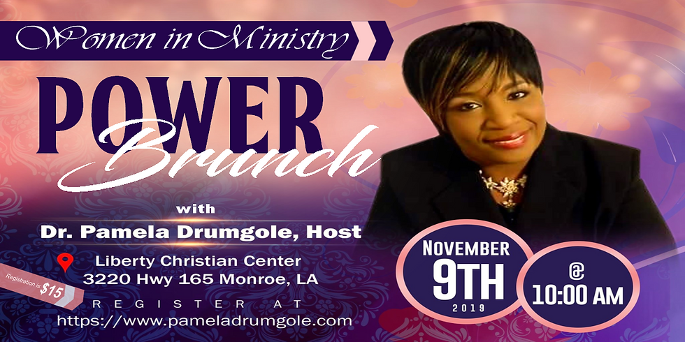 Women in Ministry Power Brunch with Dr. Pamela Drumgole