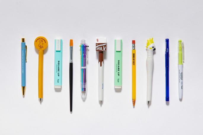 Typo Novelty pens flatlay .JPG