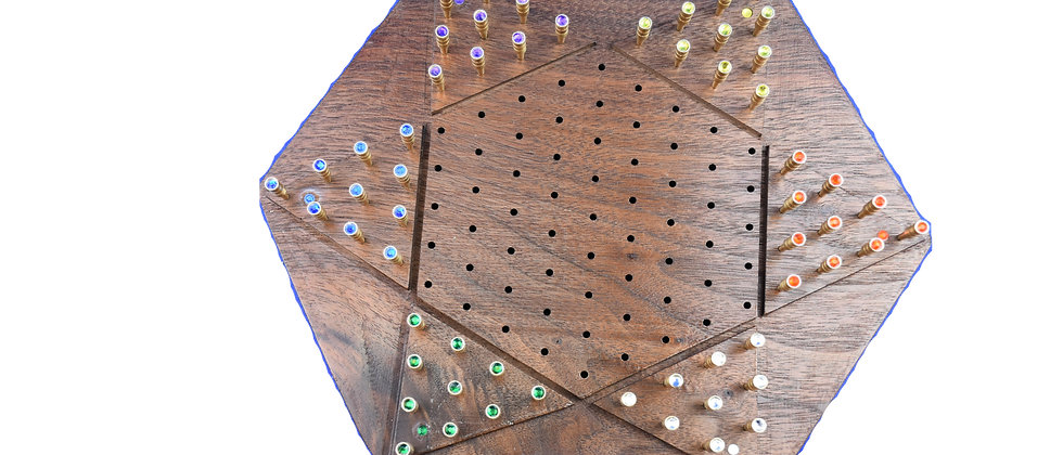 Chinese Checkers Peg w/ Raised Board