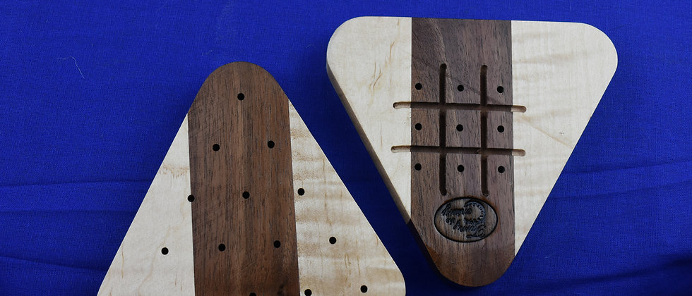2 Tone Peg Solitaire & Tic-Tac-Toe game