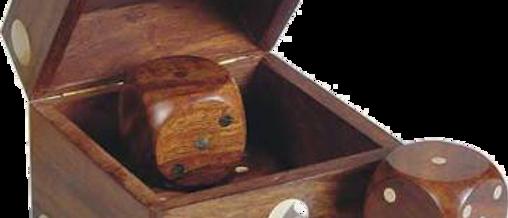 Wooden Dice in a Die