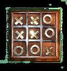 Handcrafted Hardwood Games Tic-Tac-Toe