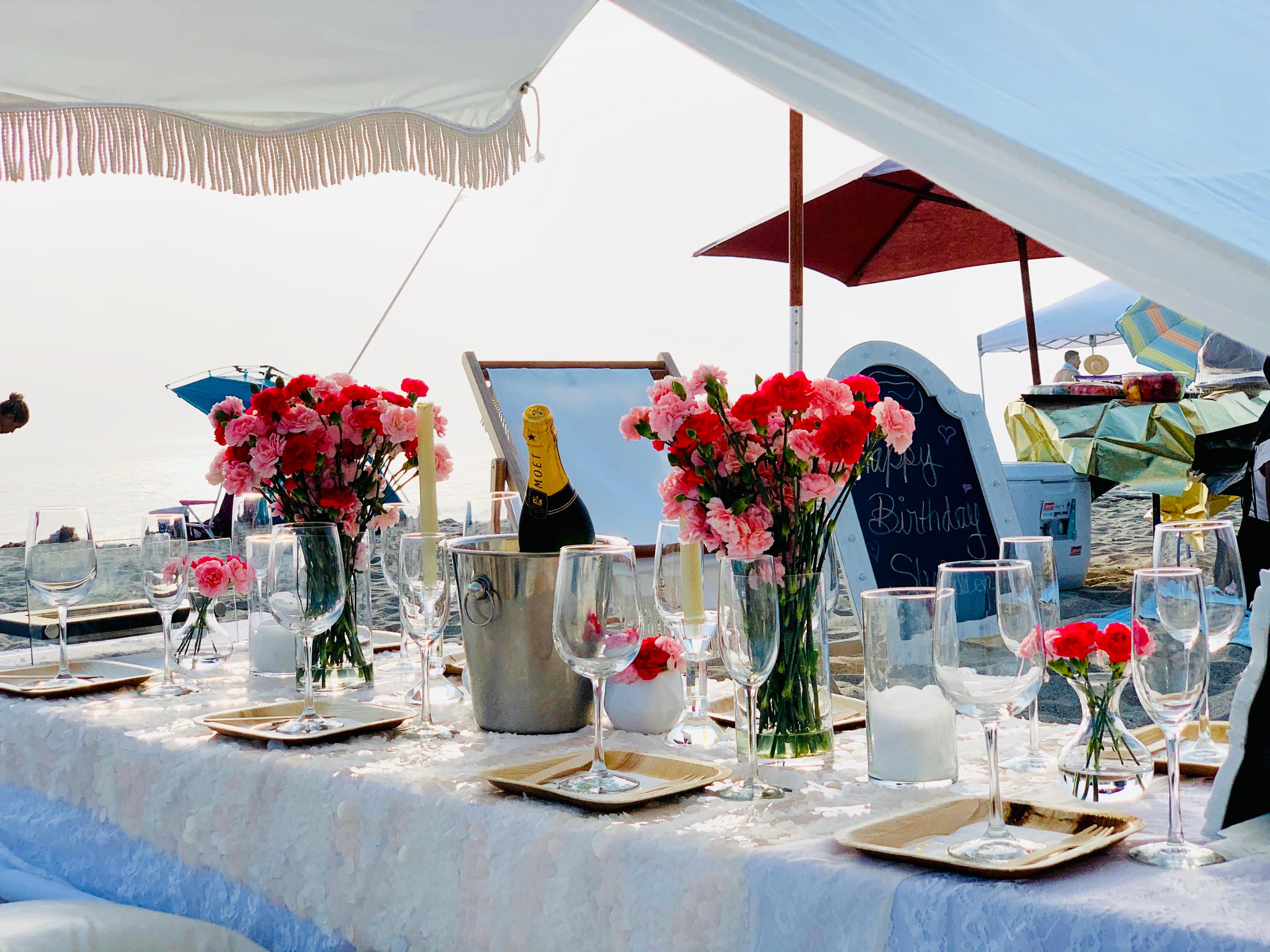 Luxury Fringe Tent Pop-Up for Six