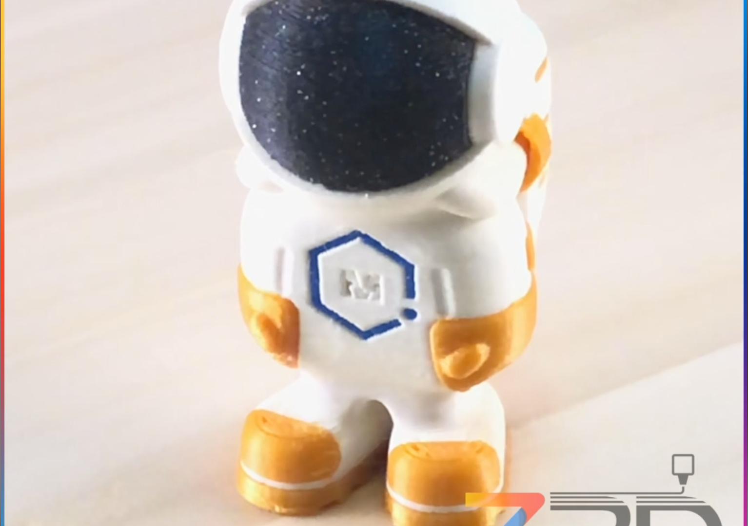 Multicoloured miniature 3D Printed