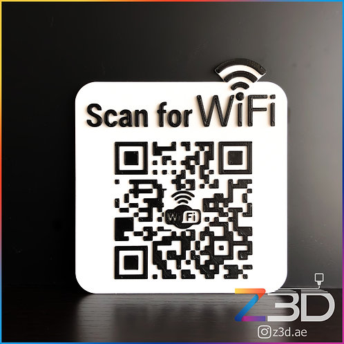 Custom wifi qr code for home or business
