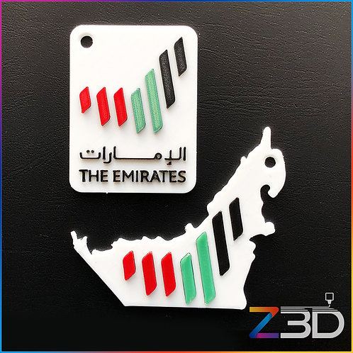 UAE National Brand Keychain