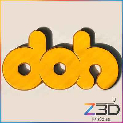 DOH donut 3d printed logo
