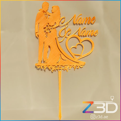 customizable wedding topper