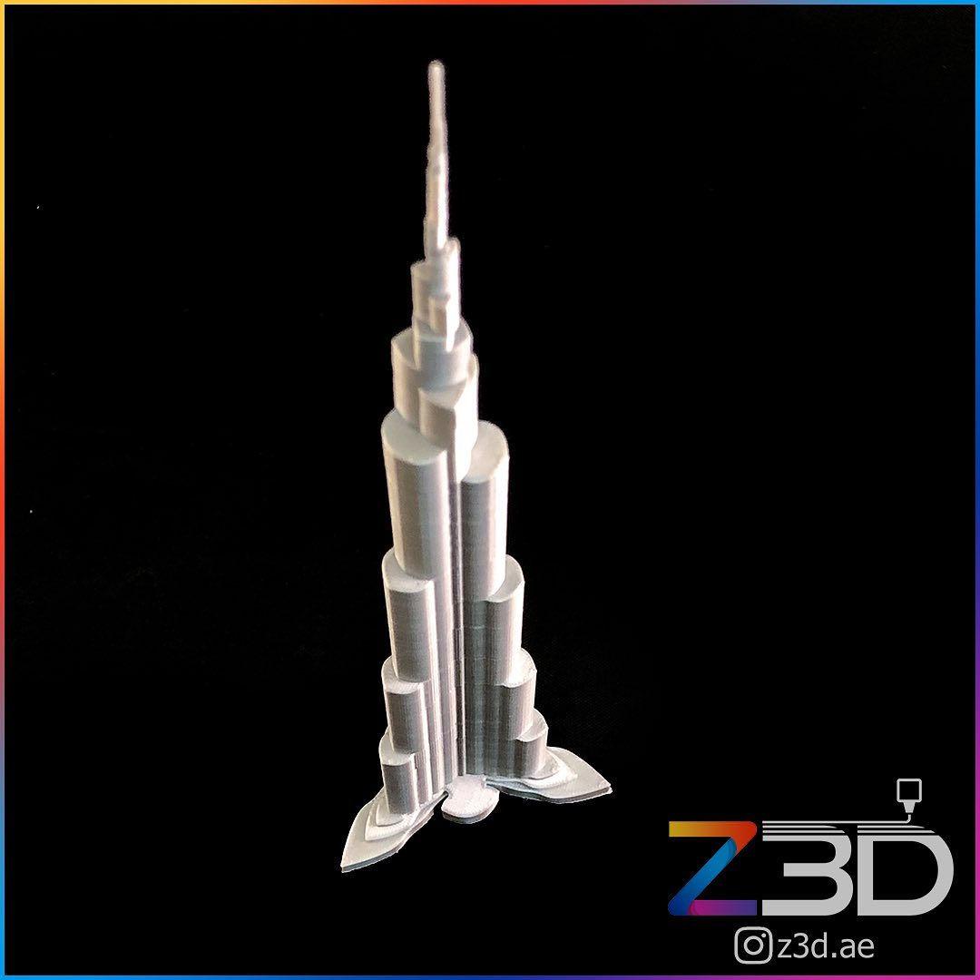 3D Printed burj khalifa