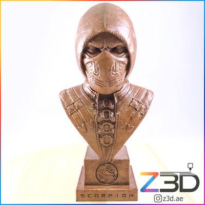 3D Printed Scorpion Bust