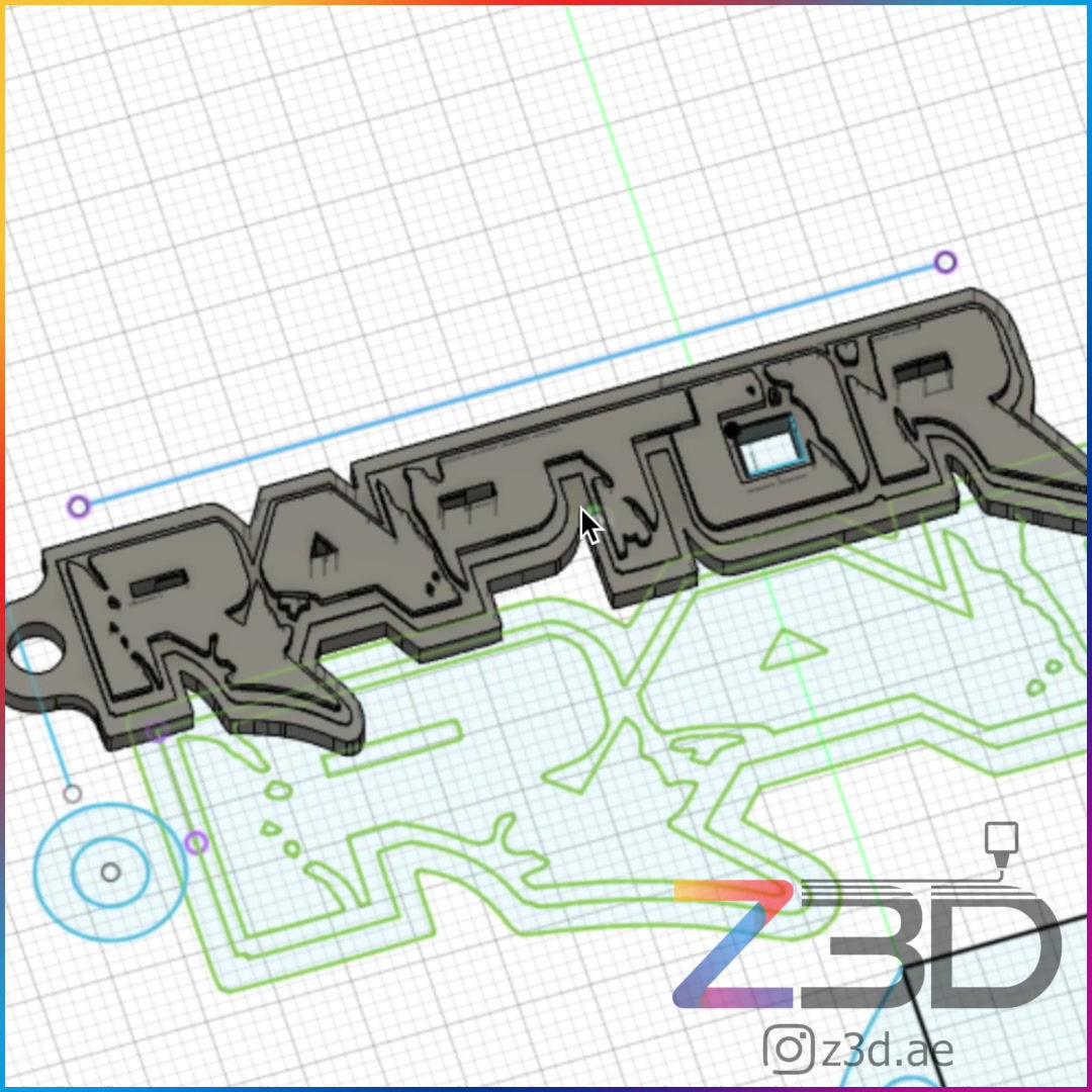 Custom 3D model of keychain