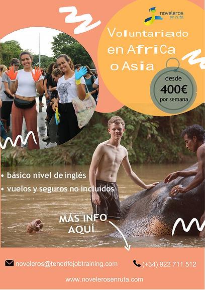 Voluntariado Asia o Africa NOVELEROS EN