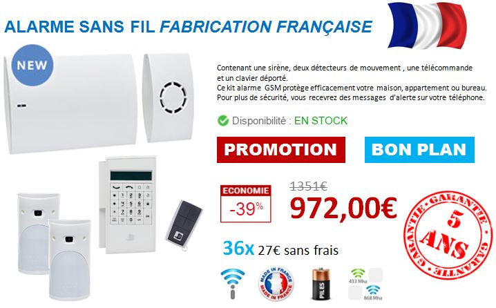 offre achat alarme