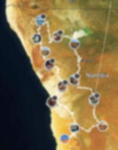 Namibia Fotokursreise Route