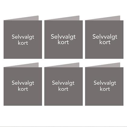 KORTPAKKE, 6 selvvalgte kort