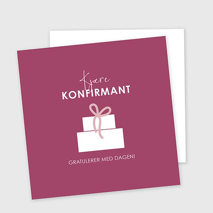 KJÆRE KONFIRMANT, dobbelt kort