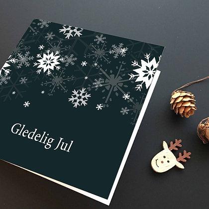 ISKRYSTALLER, svart julekort