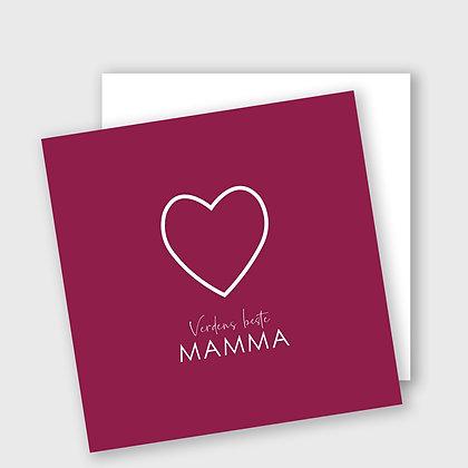 VERDENS BESTE MAMMA, dobbelt kort