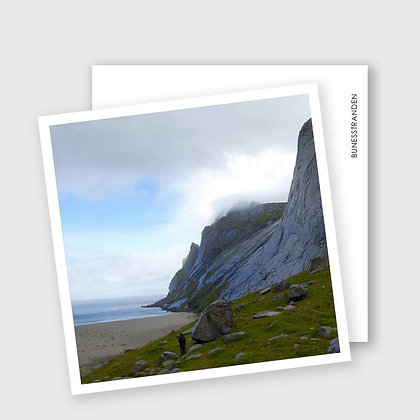 BUNESSTRANDA, i Lofoten, dobbelt kort