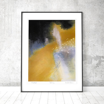 STEMNING, abstrakt kunstplakat