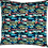 Thumbnail: Printed 'Traffic Jam' cushion cover