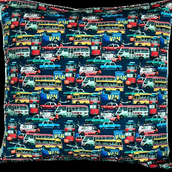 Printed 'Traffic Jam' cushion cover