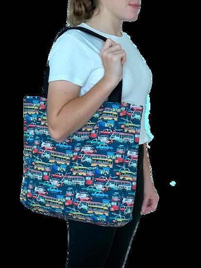 Printed 'Traffic Jam' tote bag