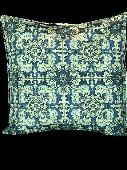 Printed 'Macau Tile' cushion cover