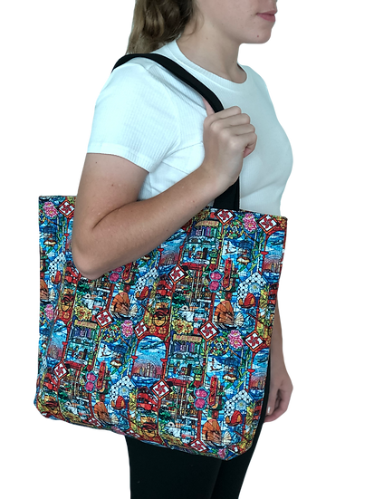 Printed 'Stained Glass' tote bag