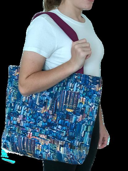 Printed 'City' Tote bag