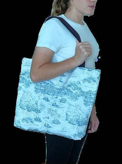 Printed 'Macau Harbour' tote bag