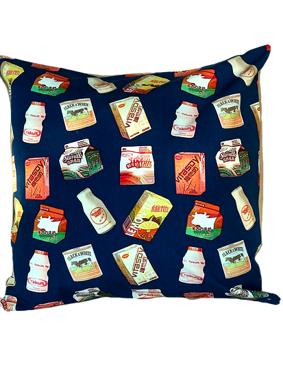 Printed 'Drinks' cushion cover