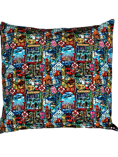 Printed 'Stained Glass' cushion cover