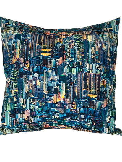 Printed 'City' cushion cover