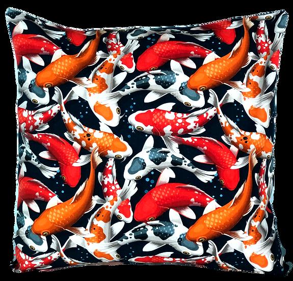 Printed 'Koi' cushion cover