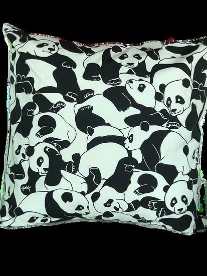 "Printed ""Panda' cushion cover"